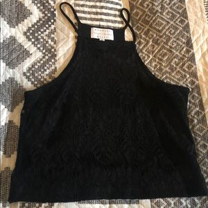 Kendall & Kylie Black Crop Top size XS